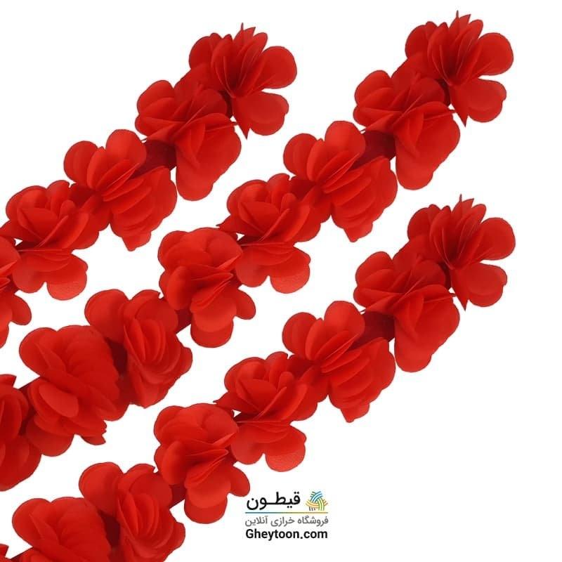 گل حریر ساتن سایز بزرگ قرمز