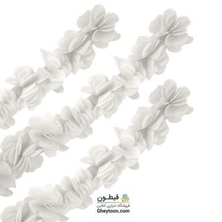 گل حریر ساتن سایز بزرگ سفید