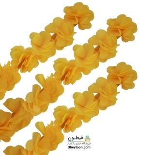 گل حریر ساتن سایز بزرگ زرد
