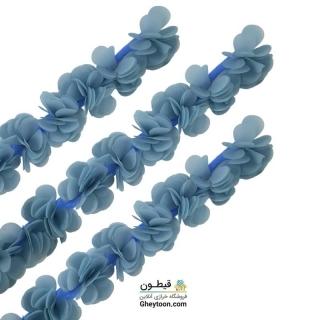 گل حریر ساتن سایز بزرگ آبی کمرنگ