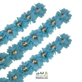 گل حریر شکوفه دار آبی روشن