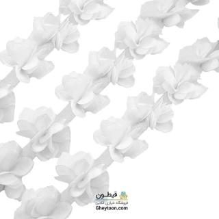 گل حریر جنس حریر سایز کوچک سفید