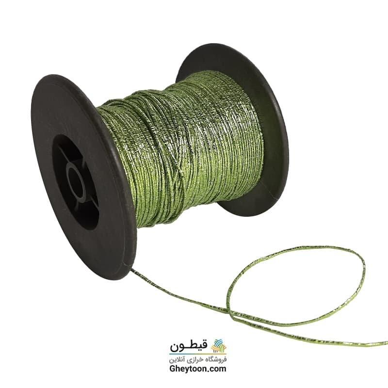 نخ عثمان دوزی یا شفق دوزی سبز فسفری