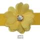 نوار گل حریر جنس ساتن کوچک نگین دار زرد