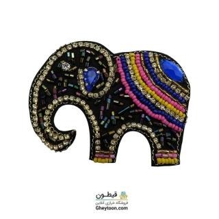 جواهر دوزی فیل خرطوم پایین