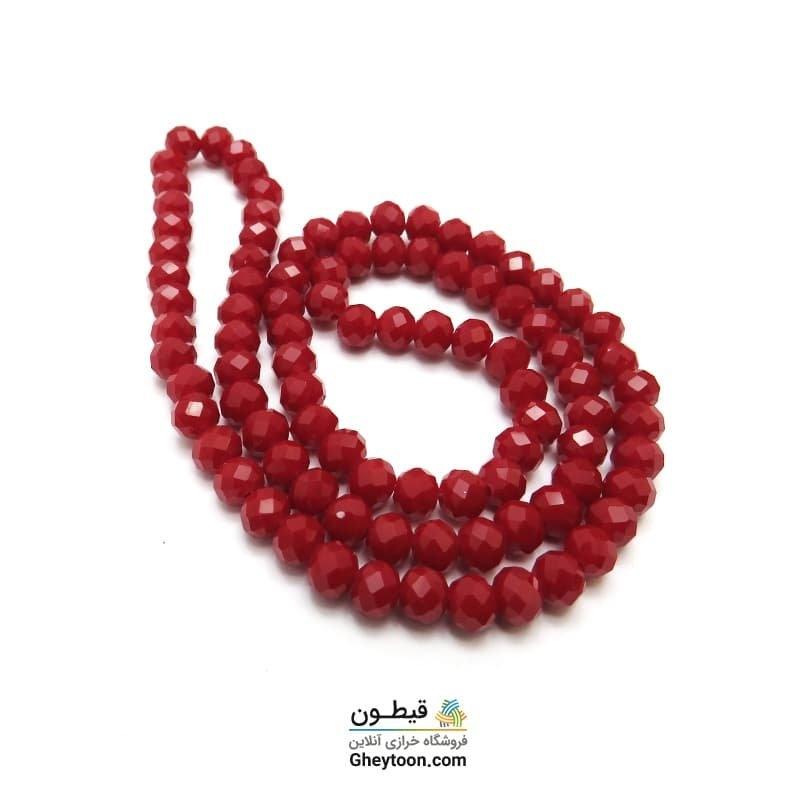 کریستال قرمز خوش رنگ سایز 6