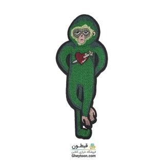 تکه دوزی میمون سبز