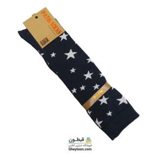 جوراب ستاره سرمه ای بلند